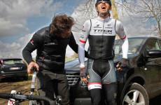 Fabian Cancellara muss nach Sturz aufgeben