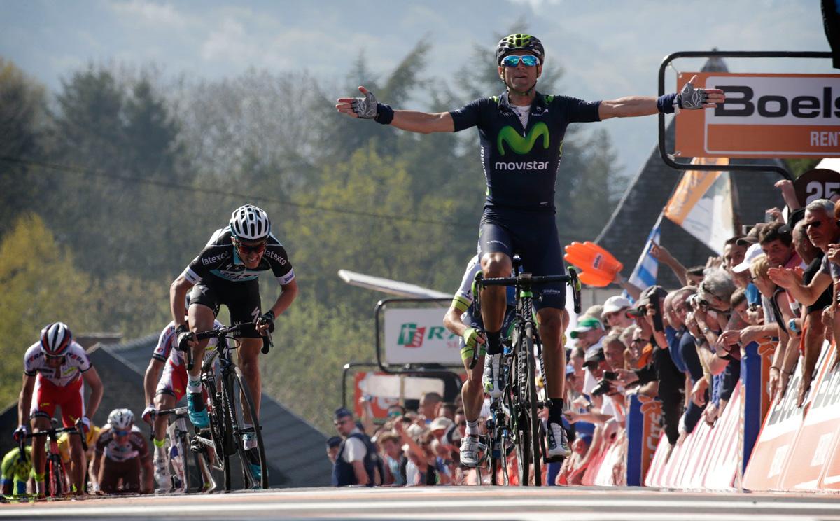 Valverde gewinnt zum 3. Mal den Fleche Wallonne