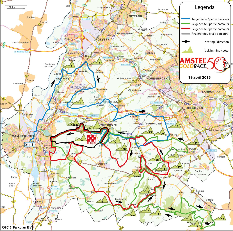 Strecke des Amstel Gold Race 2015