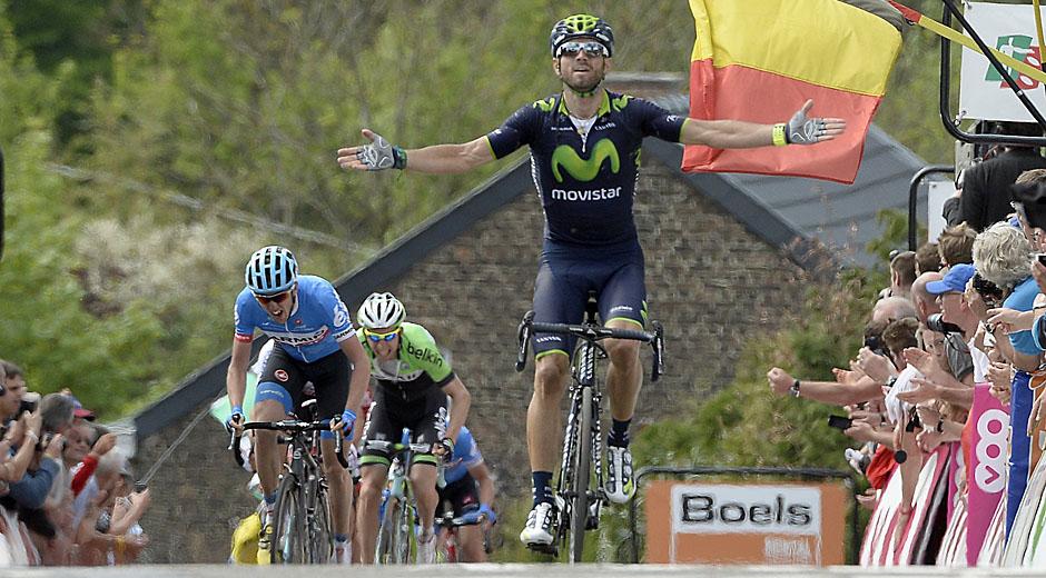 Alejandro Valverde siegt beim Flèche Wallonne 2014 (Foto: Roth&Roth; Roth-Foto.de)