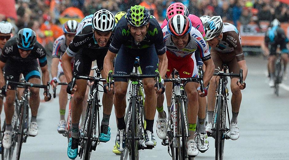 Alejandro Valverde sprintet zum Sieg (Roth&Roth; Roth-Foto.de)