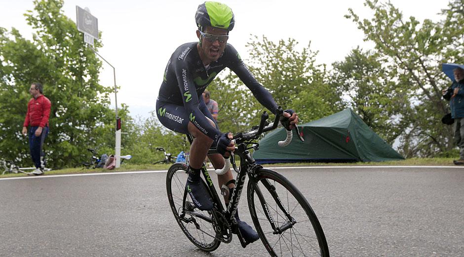 ROT  //    Benat INTXAUSTI ELORRIAGA (Spanien / Team Movistar)  -  18. Etappe Zeitfahren Mori - Polsa -