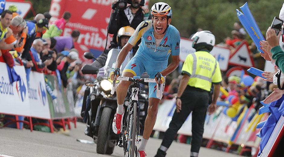 ROT  //      Fabio ARU (Italien / Team Astana) - Spanien-Rundfahrt 2014 - 16. Etappe San Martín del Rey Aurelio - La Farrapona - Lago de Somiedo -