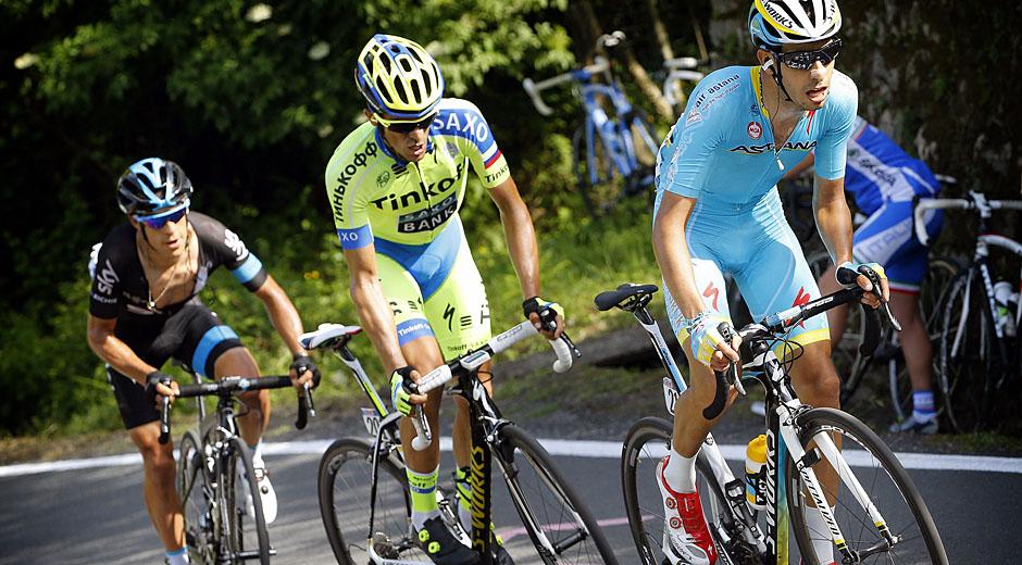 Fabio Aru, Alberto Contador und Richie Porte (Foto: Roth&Roth; Roth-Foto.de)