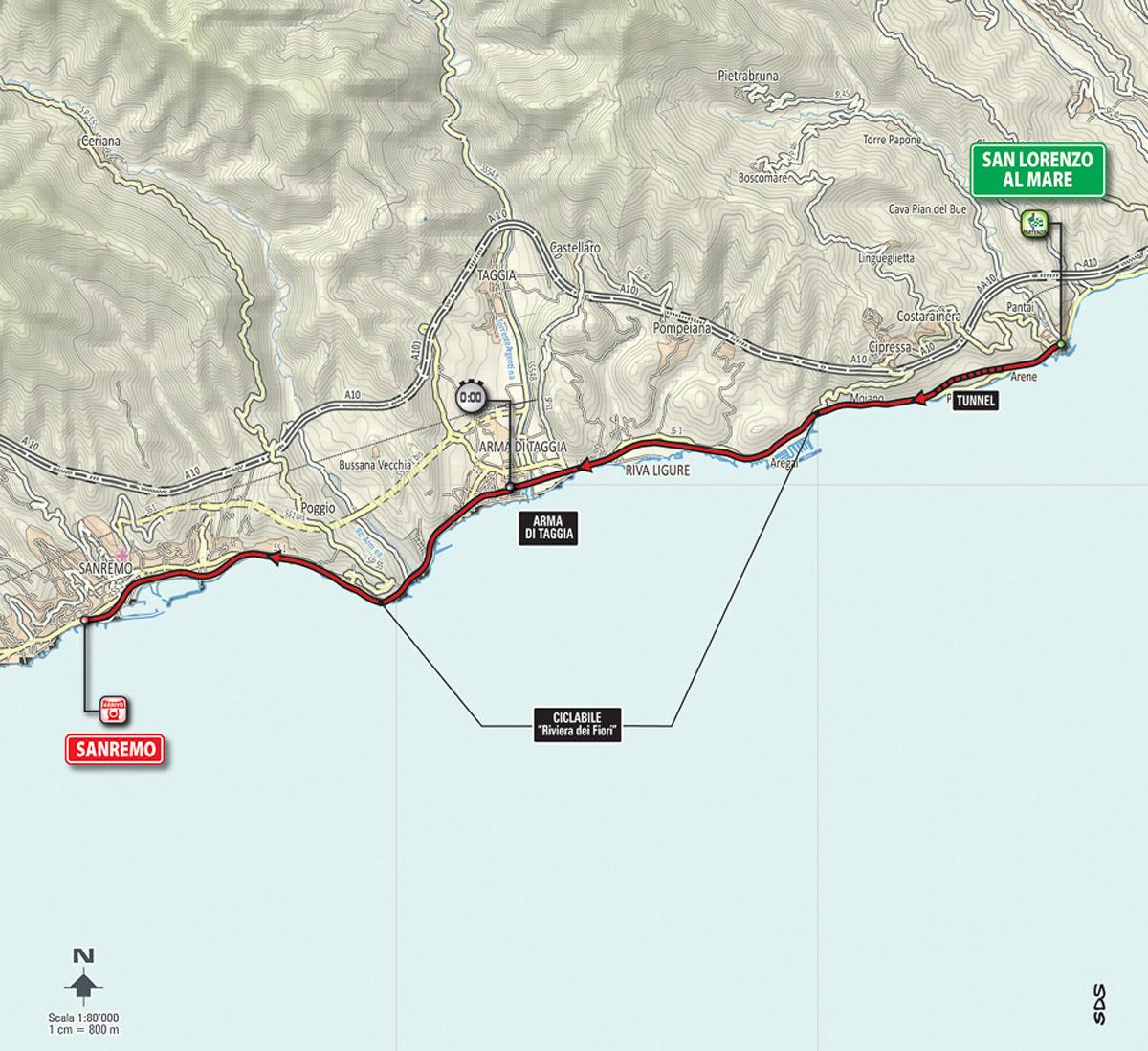 Karte Etappe 1