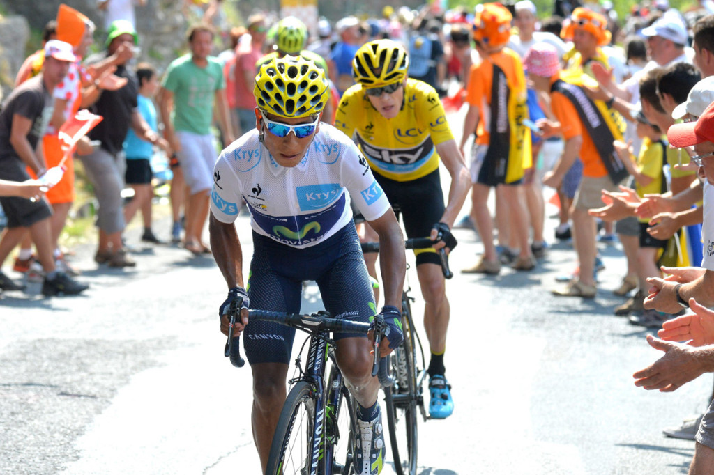 Nairo Quintana vor Chris Froome (Foto: Roth&Roth roth-foto.de)