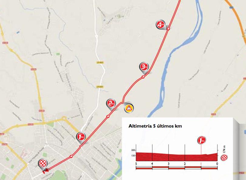 Karte letzte 5 Kilometer