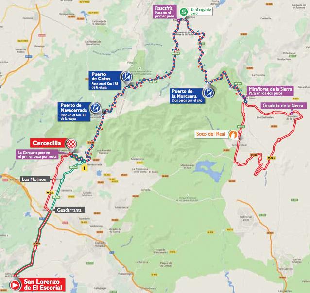 Karte der 20. Etappe