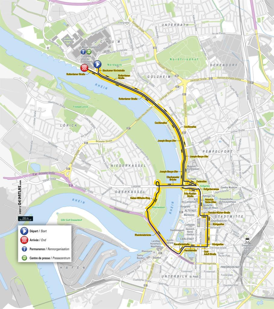 Karte: 1. Etappe der Tour de France 2017