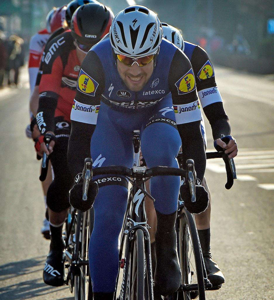 Tom Boonen macht das Tempo (Foto: Roth&Roth roth-foto.de)