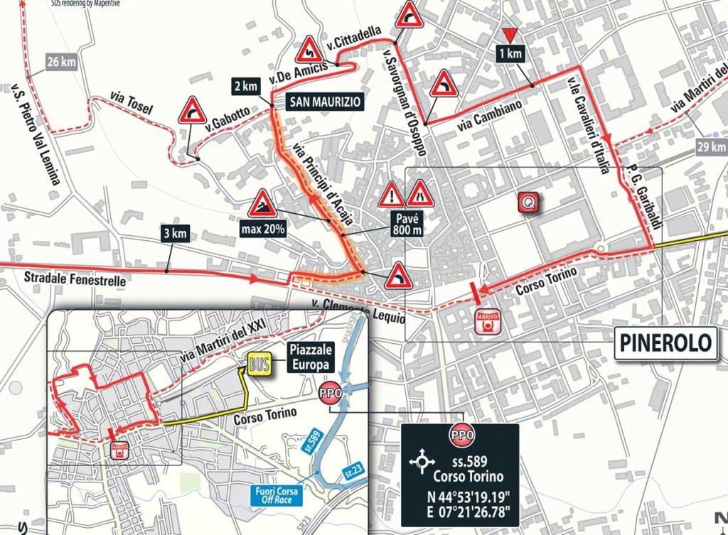 Die schwierige Anfahrt zum Ziel der 18. Etappe des Giro 2016