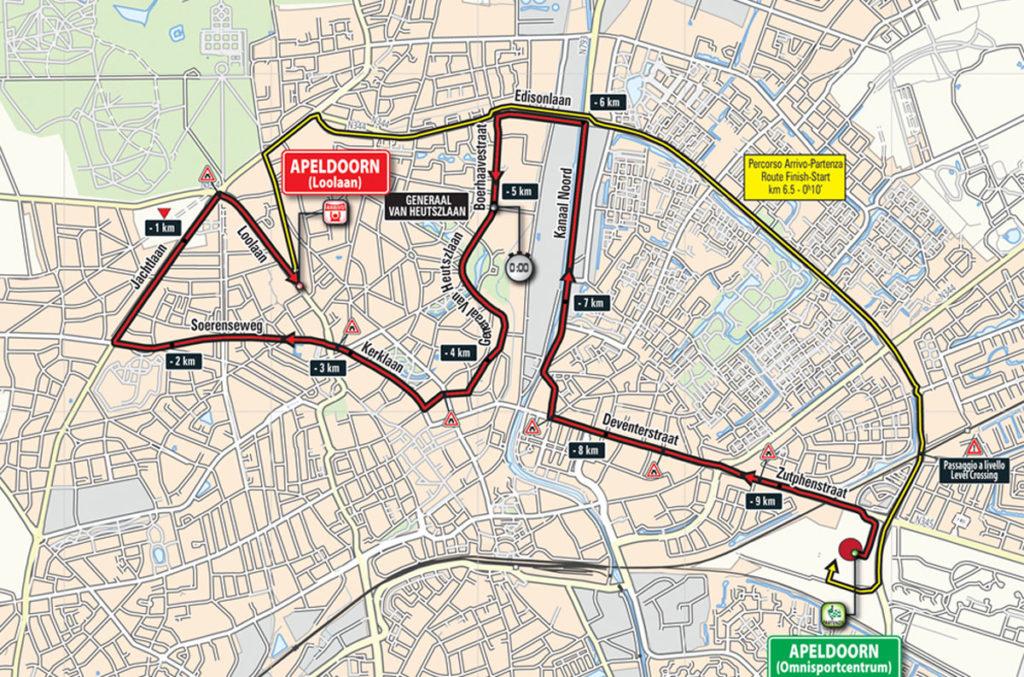Karte der 1. Etappe des Giro 2016