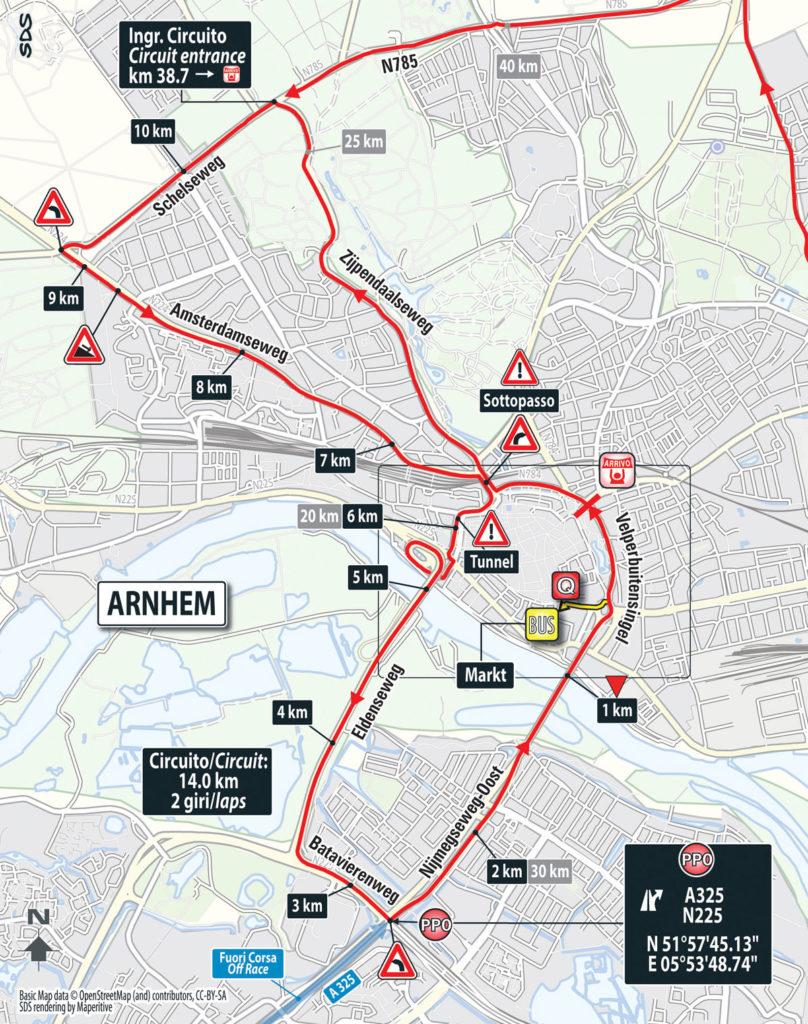 Etappe 3 - 14 km Rundkurs in Arnhem (Finale)