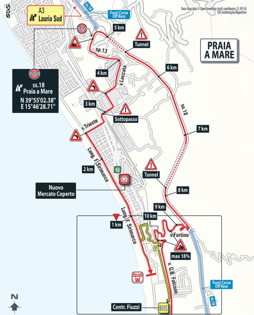 Karte: Ankunft 4. Etappe des Giro 2016