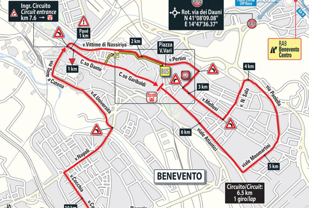 Giro Karte der Schlussrunde der 5. Etappe