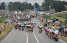 Windstaffeln bei der Tour de France 2015 (Foto: Roth&Roth)