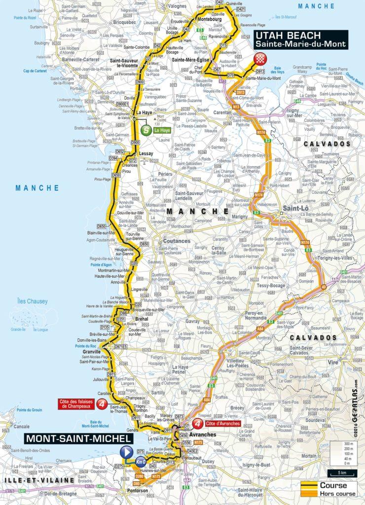 Tour de France 2016 – Karte der 1. Etappe