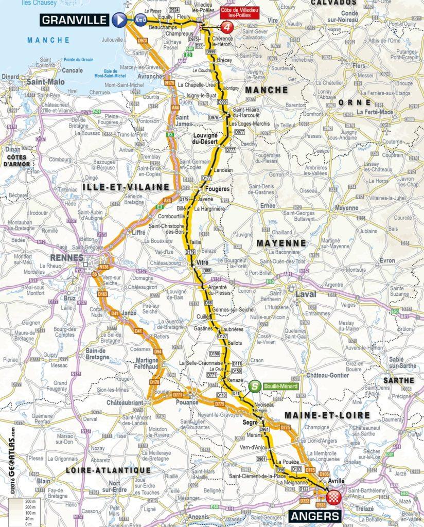 Tour de France 2016 – Karte der 3. Etappe
