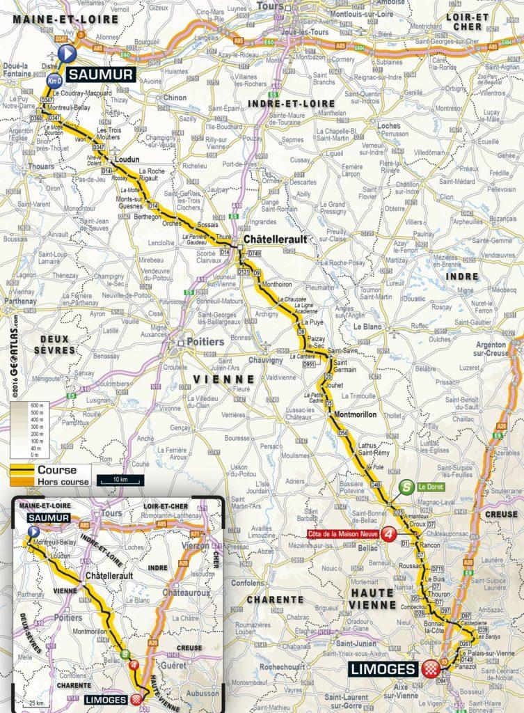 Tour de France 2016 – Karte der 4. Etappe