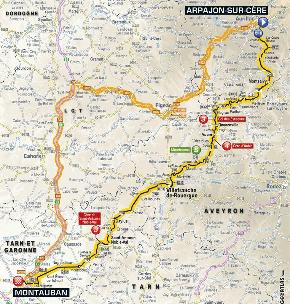 Tour de France 2016 – Karte der 6. Etappe
