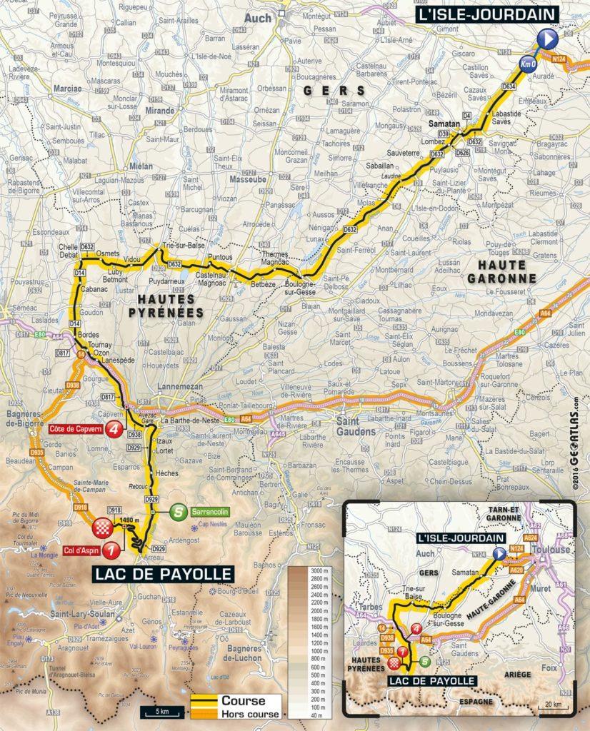 Tour de France 2016 – Karte der 7. Etappe