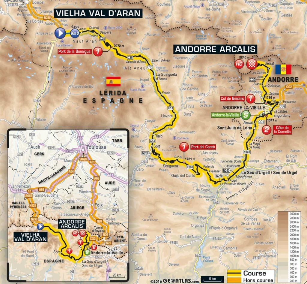Tour de France 2016 – Karte der 9. Etappe