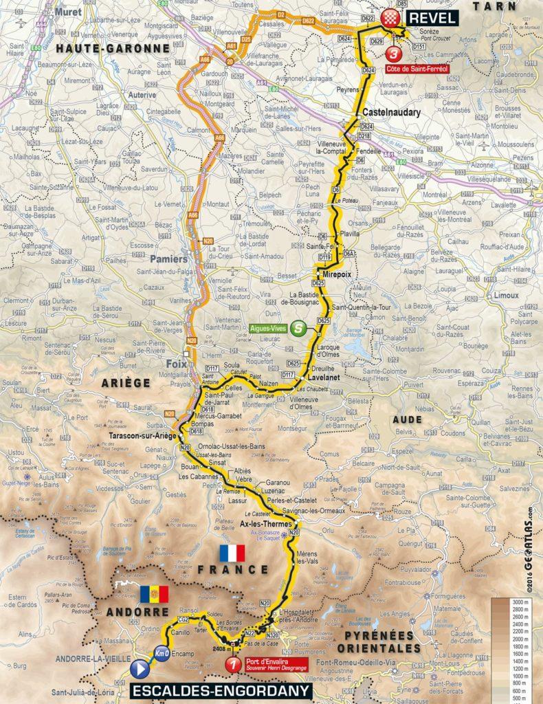 Tour de France 2016 – Karte der 10. Etappe