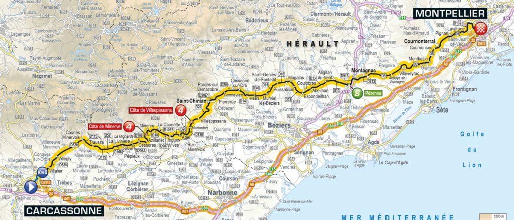 Tour de France 2016 – Karte der 11. Etappe
