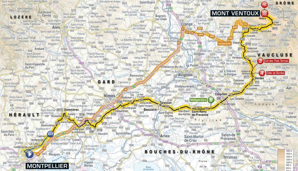 Tour de France 2016 – Karte der 12. Etappe