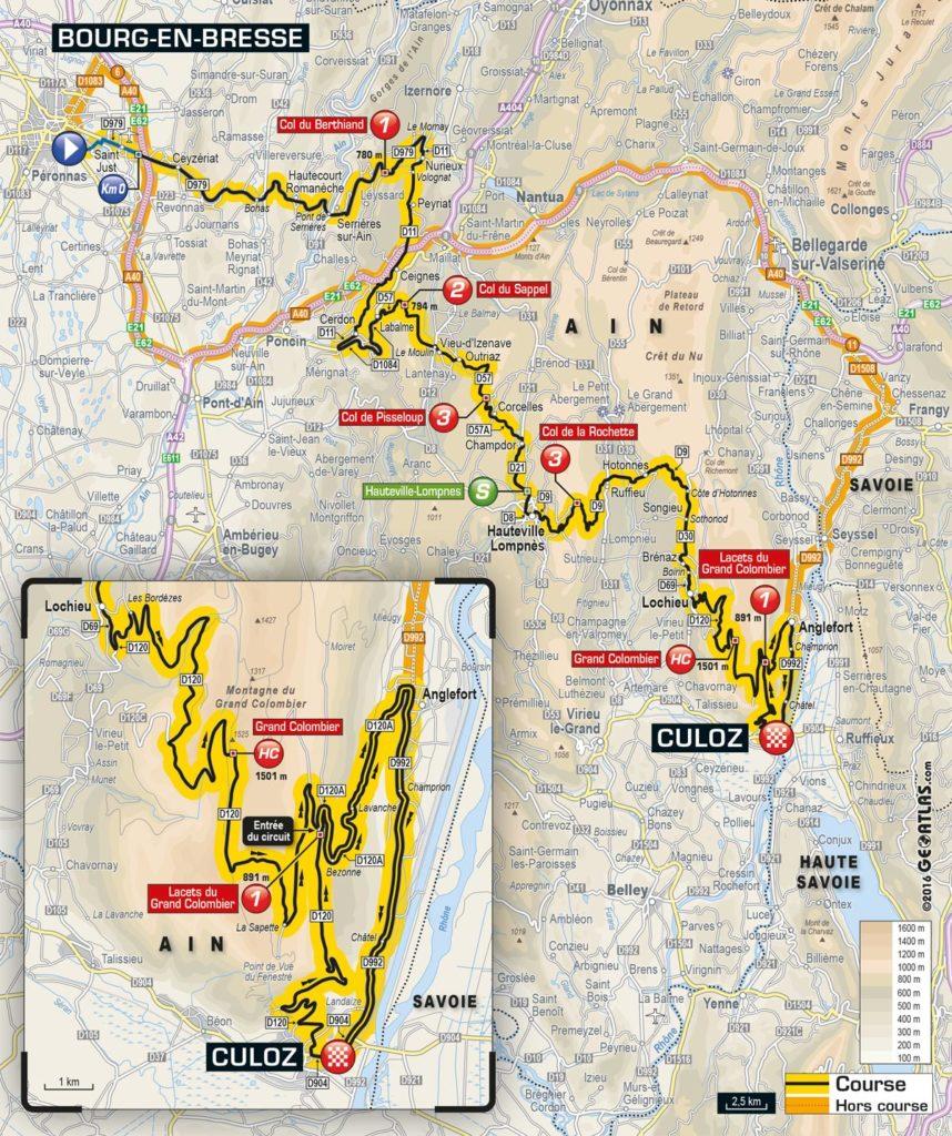 Tour de France 2016 – Karte der 15. Etappe