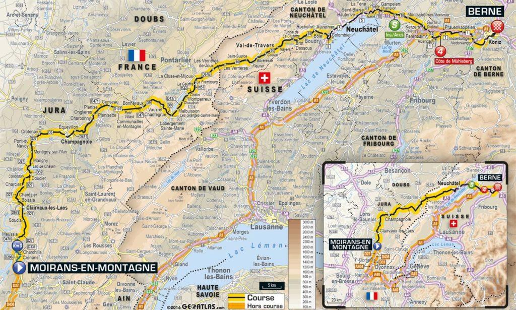 Tour de France 2016 – Karte der 16. Etappe