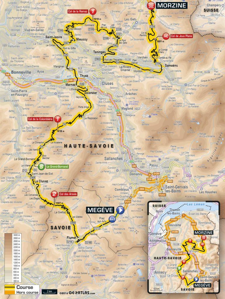 Tour de France 2016 – Karte der 20. Etappe