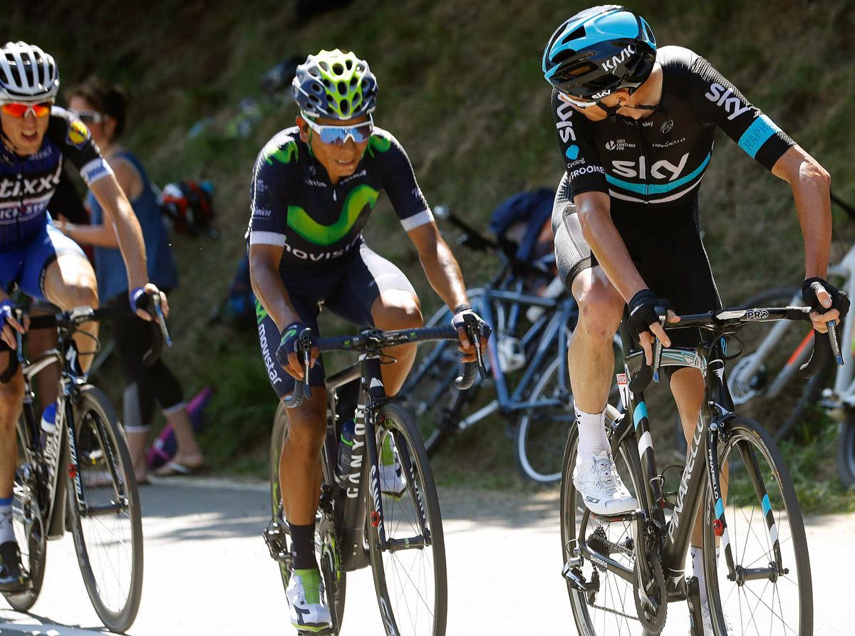 Nairo Quintana bei der Tour in Lauerstellung (Foto: Roth&Roth)