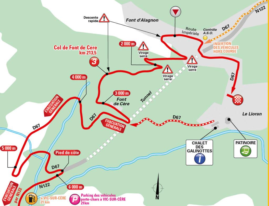Karte der Zielankunft der 5. Etappe der Tour de France 2016 (Foto: © A.S.O.)
