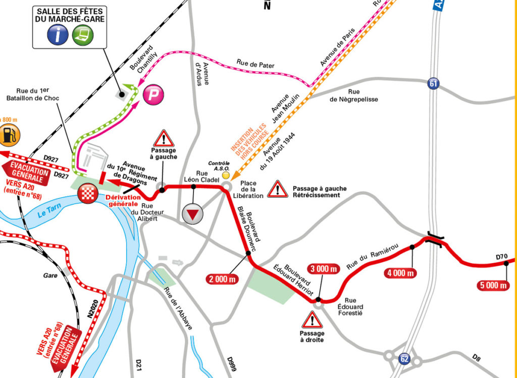 DIe Anfahrt zum Ziel der 5. Etappe der Tour de France 2016