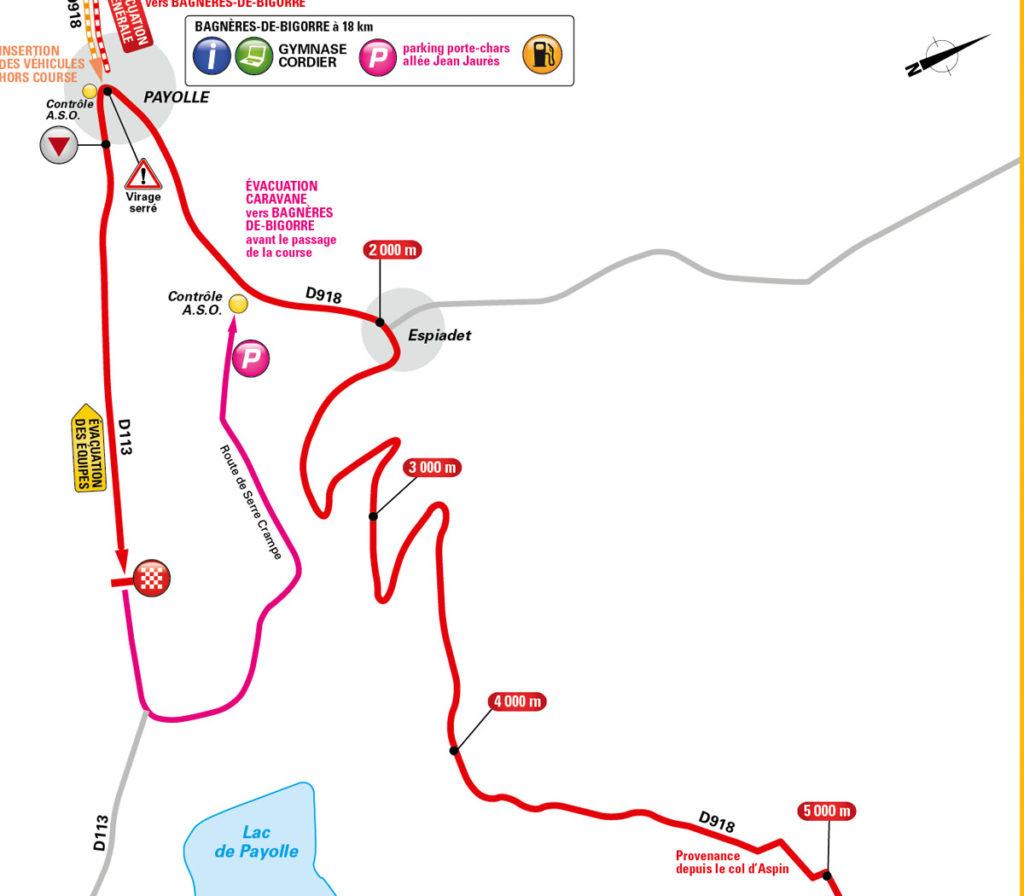 Karte der Zielanfahrt der 7. Etappe der Tour de France 2016