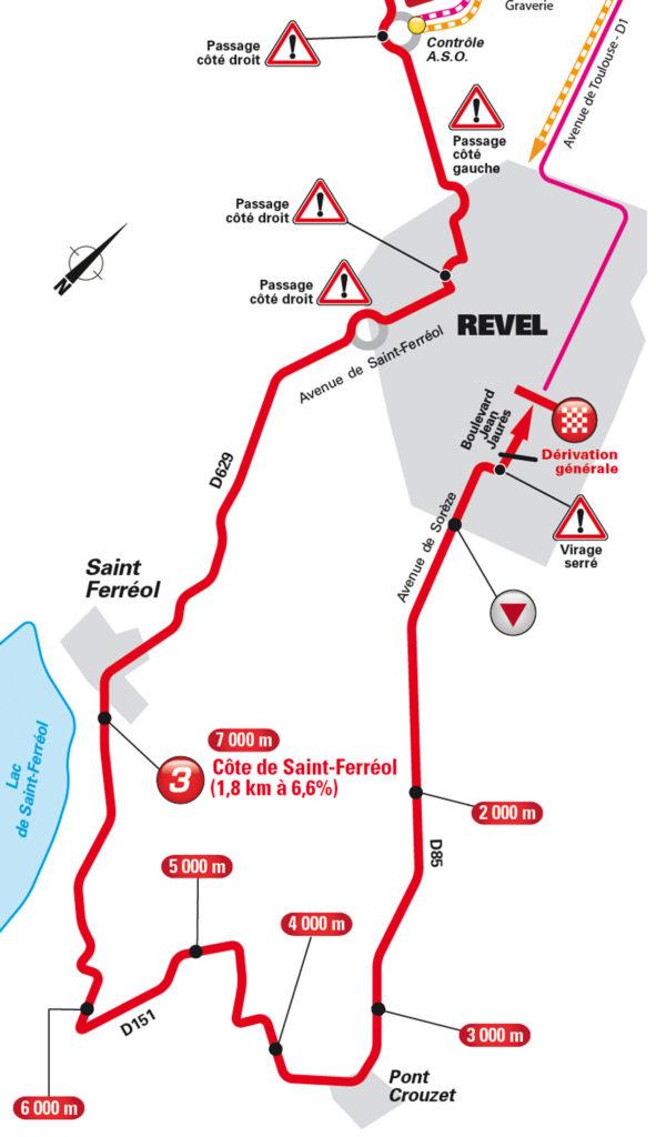 Die anfahrt zum Ziel der 10. Etappe der Tour de France 2016