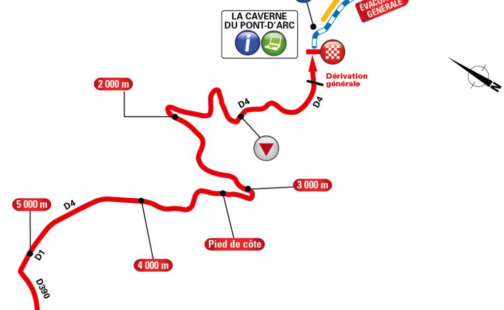 Karte der letzten Kilometer der 13. Etappe der Tour de France 2016