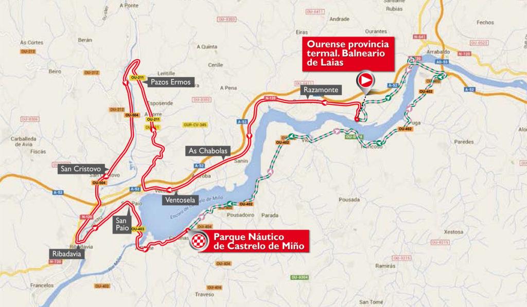 Karte der 1. Etappe der Vuelta 2016