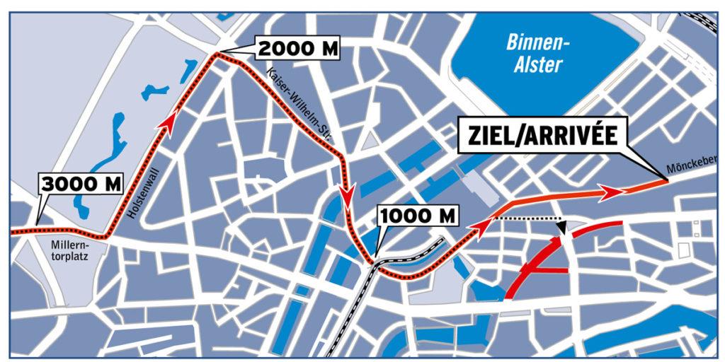 Cyclassics 2016 – Karte letzte Kilometer