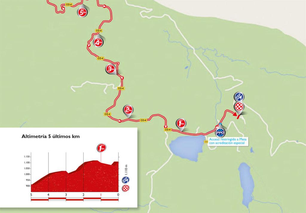 Die letzten Kilometer der 10. Etappe der Vuelta 2016