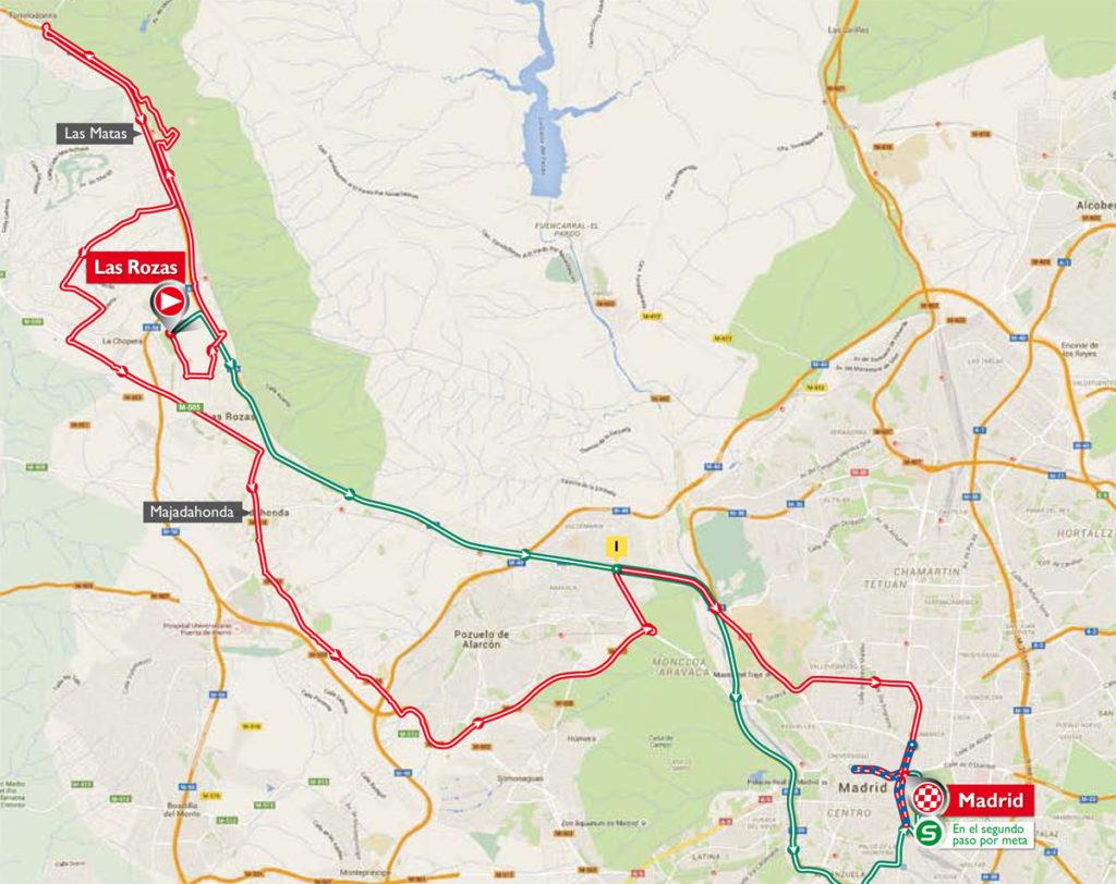 Die Karte der 21. Etappe der Vuelta 2016