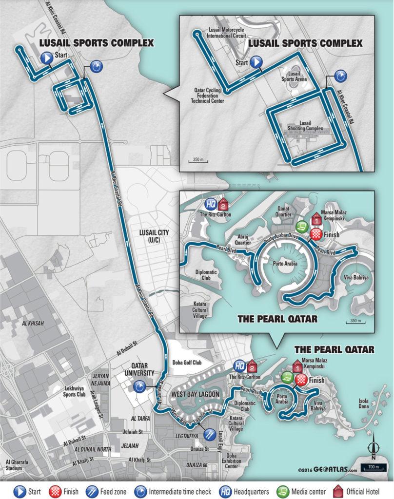Rad WM 2016 in Doha – Zeitfahrparcours Männer