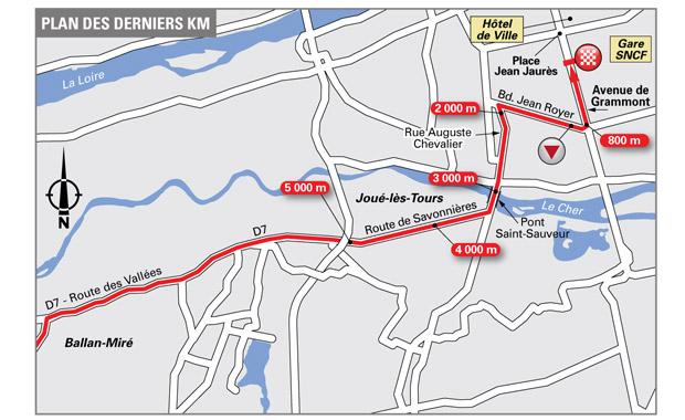 Paris-Tours 2016: Anfahrt zum Ziel