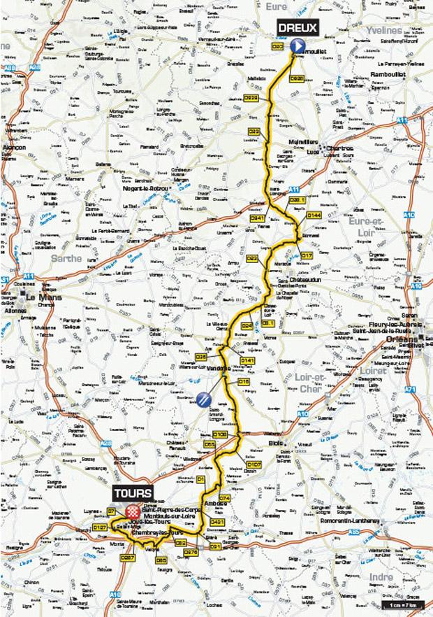 Karte Paris-Tours 2016