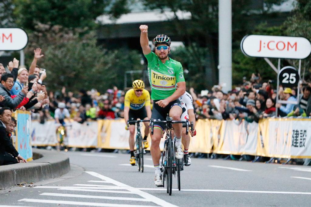 Peter Sagan sieht in Japan im Grünen Trikot (Foto: ASO/Y.Sunada)