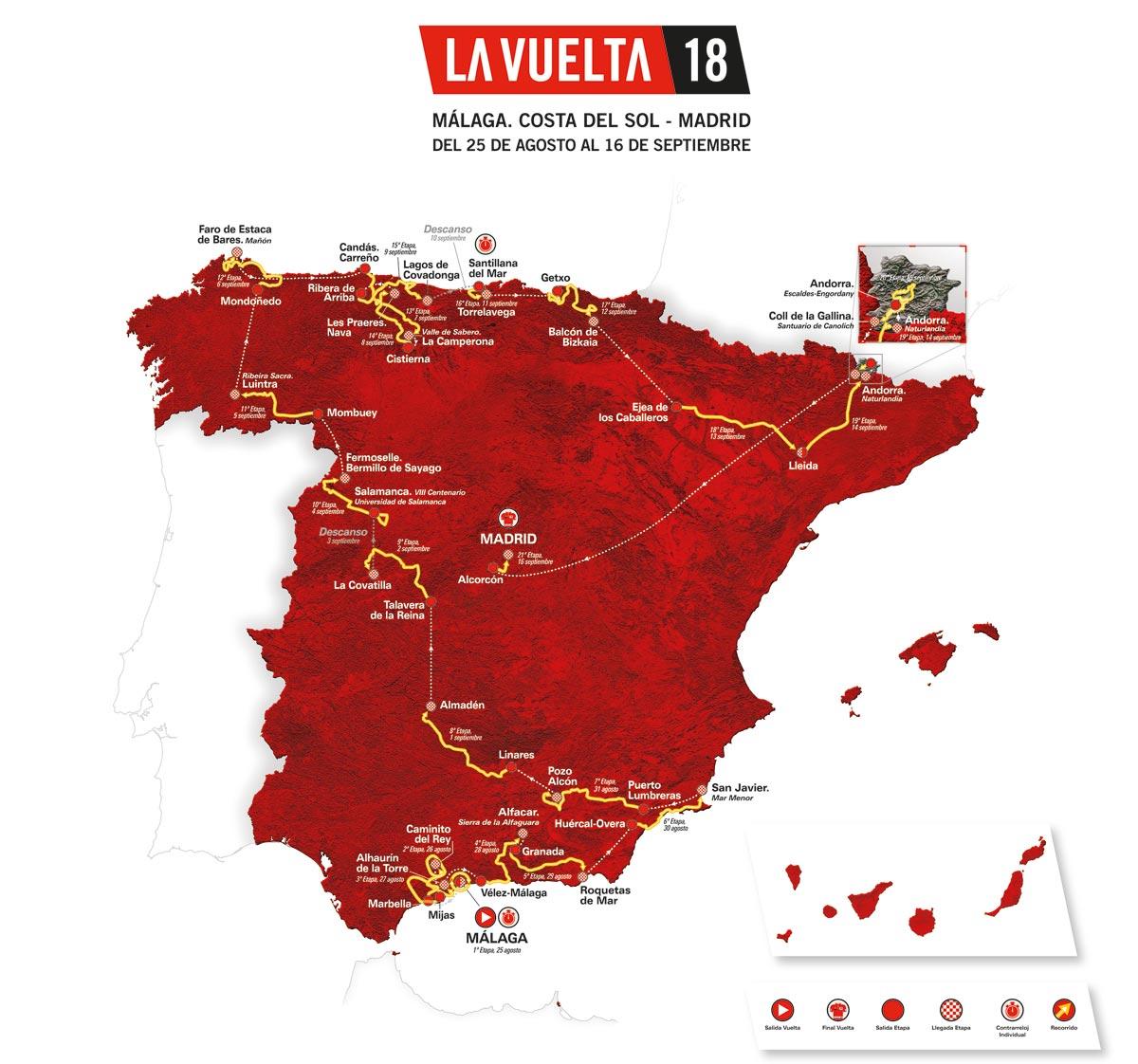 Malaga Karte Spanien.La Vuelta 2018 Das Ist Die Strecke Der 73 Spanien