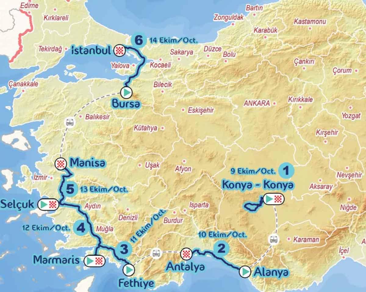 Karte Türkei.Türkei Rundfahrt 2018 Alle Etappen Mit Profil Cycling Magazine