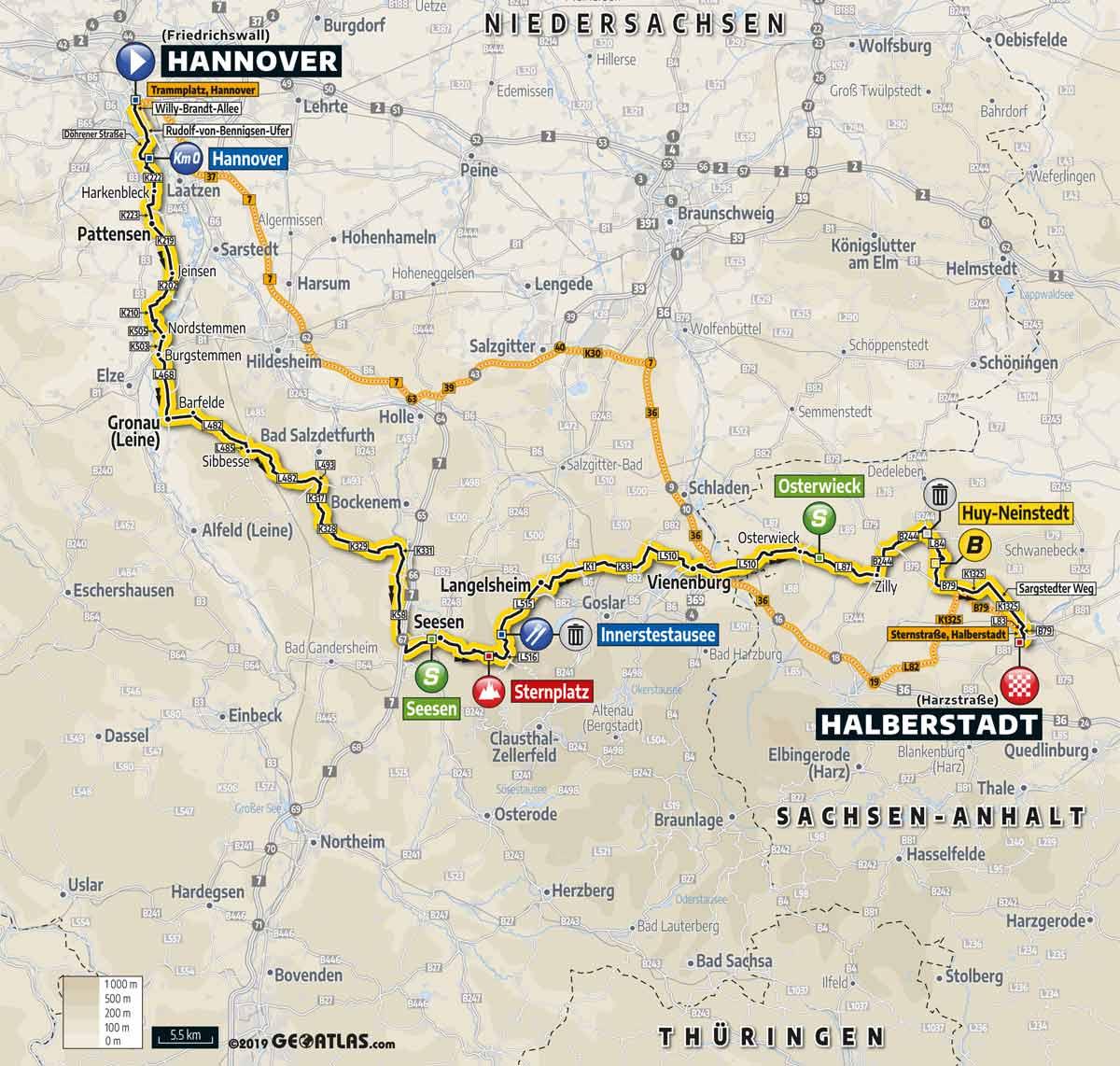 Deutschland Tour 2019 Karte Profil Vorschau Auf Etappe 1