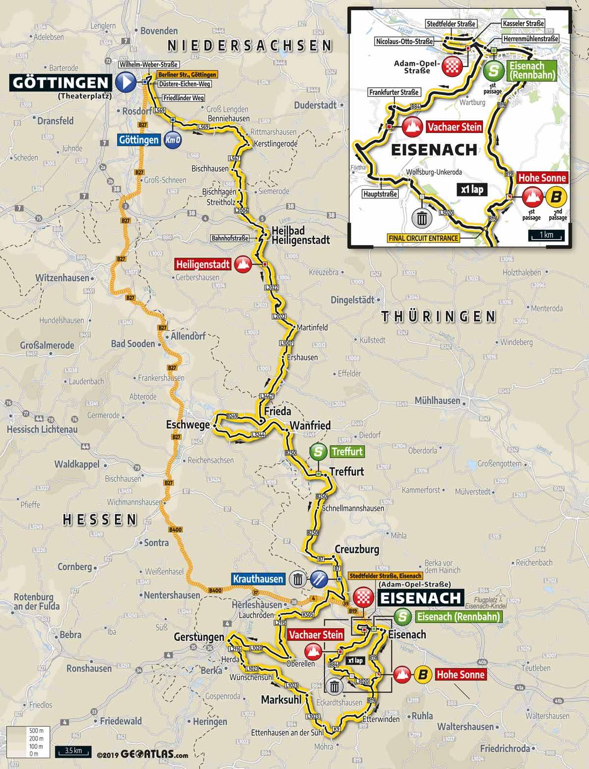 Deutschland Tour 2019 Profil Karte Favoriten In Der Vorschau